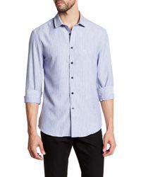 Vince Camuto - Striped Trim Fit Sport Shirt - Lyst
