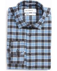 Calibrate - Trim Fit Non-iron Plaid Dress Shirt - Lyst