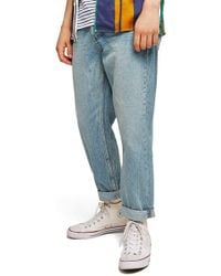 TOPMAN - Original Fit Straight Leg Jeans - Lyst