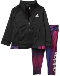 adidas - Tricot Jacket & Tight Set (baby Girls) - Lyst