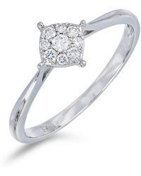 Bony Levy - 18k White Gold Diamond Cluster Ring - 0.14 Ctw - Lyst