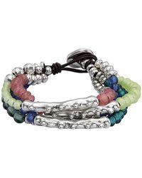 Uno De 50 - Anemone Irregular Beaded Layered Bracelet - Lyst