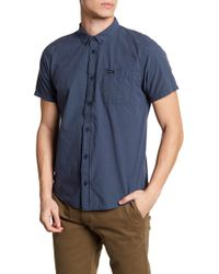 RVCA - That'll Do Micro Check Slim Fit Shirt - Lyst