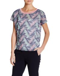 Vivienne Tam - Deco Grid Embroidered Ruffle Shirt - Lyst