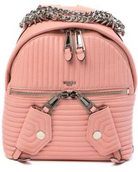 Moschino - Leather Topstitched Chain Backpack - Lyst