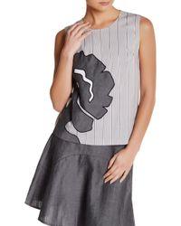 Vivienne Tam - Shell Shirt With Flower Applique - Lyst