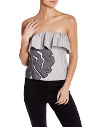 Vivienne Tam - Low Cut Ruffle Shirt - Lyst