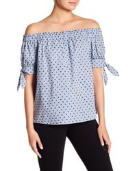 fa1fd0950433ac Lyst - Cece by Cynthia Steffe Off-the-shoulder Balloon Sleeve Top in ...