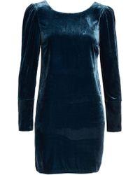 Charles Henry - Velvet Sheath Dress - Lyst