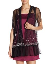 Betsey Johnson - Pearl Shimmer Embellished Wrap - Lyst
