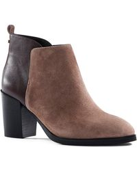 Lands' End - Suede Leather Bootie - Lyst