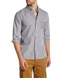 Lands' End - Stripe Pocket Long Sleeve Regular Fit Shirt - Lyst