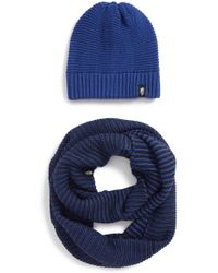 The North Face - Purrl Stitch Beanie & Infinity Scarf Set - Lyst