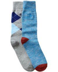 Original Penguin   Atrium & Kennedy Crew Socks - Pack Of 2   Lyst