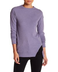 Go Couture - Slant Vent Long Sleeve Thermal - Lyst
