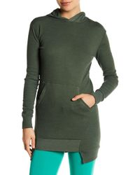 Go Couture - Garment Dyed Thermal Hoodie - Lyst
