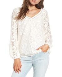 Hinge - Lace Top - Lyst
