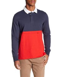 Tavik - Oliver Colorblock Long Sleeve Polo - Lyst