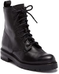 Frye - Julie Combat Leather Booties - Lyst