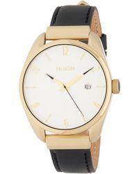 Nixon - Women's Bullet Leather Luxe Watch, 38mm - Lyst