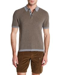 Lands' End - Waffle Knit Polo - Lyst