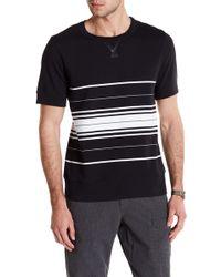 Lands' End | Striped Short Sleeve Sweatshirt | Lyst