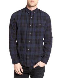 The Rail - Long Sleeve Plaid Nep Shirt - Lyst