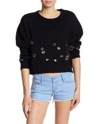 Black Orchid - Grommet Cropped Sweatshirt - Lyst
