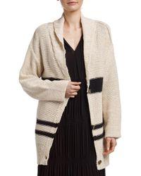 James Perse - Cotton Linen Beach Sweater - Lyst