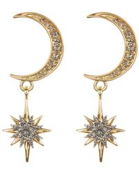 Vince Camuto - Crescent & Star Drop Earrings - Lyst