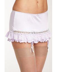 Felina - Tricia Garter Skirt - Lyst