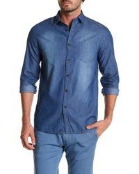 Indigo Star - Sachi Long Sleeve Denim Tailored Fit Shirt - Lyst