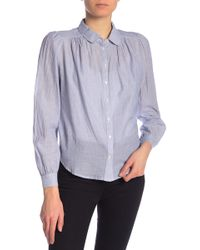 5b81eddfb4808 Joie - Tandice Striped Peter Pan Button Front Blouse - Lyst