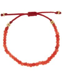Link Up - Red Bead Pull Cord Bracelet - Lyst
