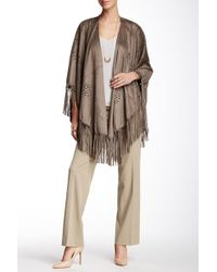 Insight - Fringe Faux Suede Cape - Lyst
