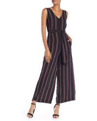 Max Studio - Striped Crepe Jumpsuit - Lyst