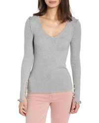 Chelsea28 - Pearly Bead Detail Sweater - Lyst