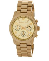 MICHAEL Michael Kors - Women's Gold-tone Chronograph Watch - Lyst