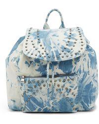 Steve Madden - Vera Tie Dye Denim Backpack - Lyst