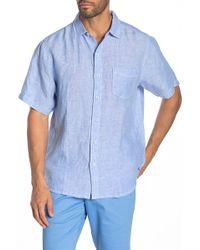 Tommy Bahama - Party Breezer Linen Short Sleeve Modern Fit Shirt - Lyst