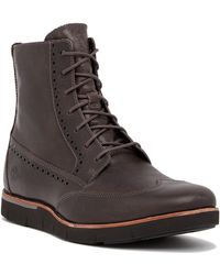 "Timberland - Preston Hill Brogued Wingtip 6"" Boot - Lyst"