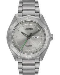 Citizen - Men's Eco-drive Super Quartz Titanium Casual Watch - Lyst