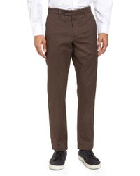 Ted Baker - Freshman Modern Fit Brushed Trousers - Lyst