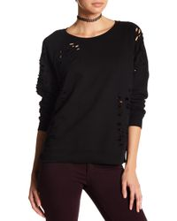 Black Orchid - Raglan Side Zip Sweatshirt - Lyst
