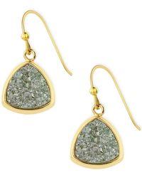 Saachi - Triangle Drop Druzy Earrings - Lyst