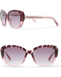 Fossil - Women's 55mm Cat Eye Sunglasses - Lyst