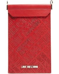 Love Moschino - Portacel Embossed Rosso Cellphone Case - Lyst