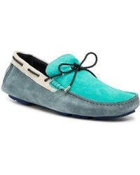 Bugatchi - Colorblock Suede Boat Shoes - Lyst