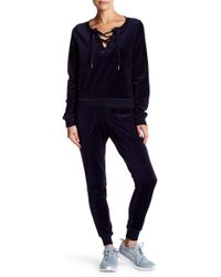 Betsey Johnson - Lace Up Skinny Pant - Lyst