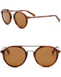 Z Zegna - 50mm Round Aviator Sunglasses - Lyst